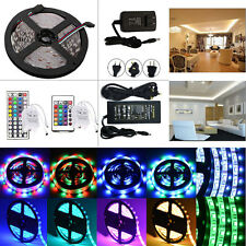5M 300LED SMD 3528/5050/5630 RGB/White Flexible Strip Light+Remote+Power Adapter