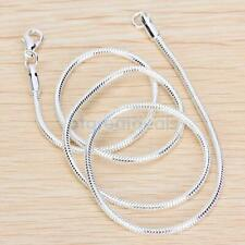 Fashion Silver Alloy with silver plating Snake Chain Necklace with Lobster Clasp