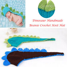 Cute Warm Dinosaur Handmade Beanie Crochet Knit Hat Cap for 3-6M Baby Child kids