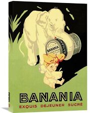 'Banania Exquis Dejeuner Sucre' Vintage Advertisement on Wrapped Canvas