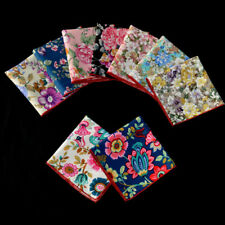 Men Pocket Square Handkerchief Lot Cotton Flower Floral Wedding Party Hanky Lot