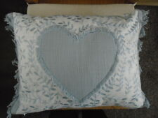 Next Pastel Blue Embroidered Floral Heart Cushion 17