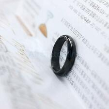 Black Stainless Steel Couple Lover Finger Ring Unisex Jewelry Gift US Size 5-10