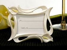 6 Calla Lily Table Name / Note Wedding Place Cards Photo Holders Favors Gifts