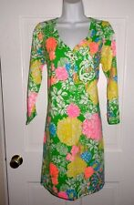 NWT LILLY PULITZER MULTI HIBISCUS STROLL PALMETTO  DRESS M L XL