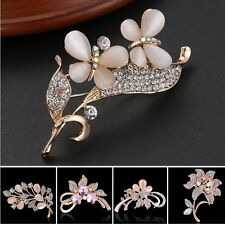 Charm A Week 18K Crystal Rose Gold Brooch Pin Women Lady Wedding Bride Jewelry