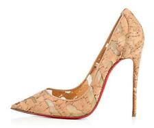 Christian Louboutin SO KATE 120 Cork Mesh Stiletto Heels Pumps Shoes Nude $695