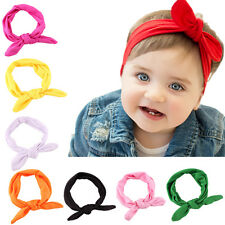 lovely Newborn Headbands Stretch Rabbit Bow Ear Turban Knot Hair band JG