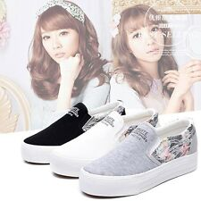 Women's Summer Casual Loafers Slip-on Flats Shoes Sneakers Trainers Plimsolls A