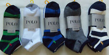New Mens POLO Ralph Lauren 4 Pack No Show Performance Socks Various Colors