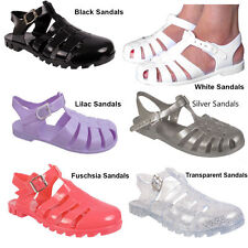 Women ladies Flip Flops summer beach gladiator flat jellies jelly sandals Size