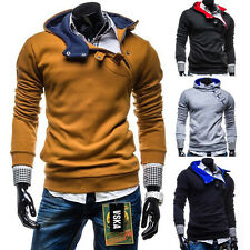 NEW Mens Casual Fashion Slim Fit Sexy Designed Hoodies Hoode Jackets Coats Tops