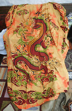 """Chinese Dragon 100% Cotton Bedspread / Throw - Double Size 85"""" x 98"""""""