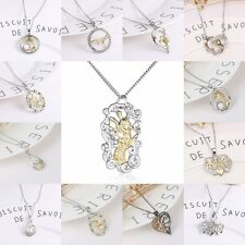 New Charm Pearl Crystal Rhinestone LOVE Pendant Necklace Chain Family Lover Gift