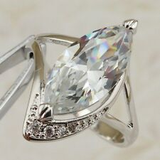 Size5 6 7 8 9 10 Great Hot White CZ Marquise Gems Jewelry Gold Filled Ring R2464