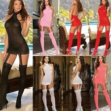 Sexy Lace Lingerie Womens Babydoll Stockings Dress Underwear Sleepwear G-string