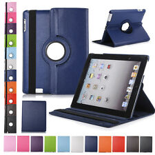 Case Cover Matte For Apple iPad 2 3 4 Air 5 6 Mini Swivel PU Leather Smart New