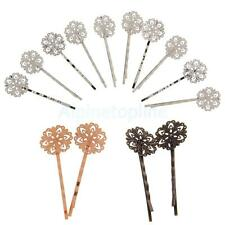 10x Vintage DIY Hair Clips Pins Retro Grips Slides Handmade Hair Barrettes