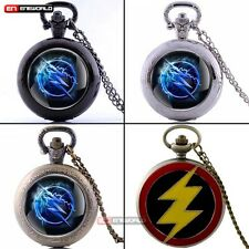 Vintage Flash Pocket Watch Chain Quartz Pendant Necklace Gift Retro Antique Mens