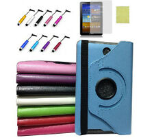 "For Asus 7"" FonePad ME371MG ME371 360 Rotating Leather Case Cover & Film &Stylus"