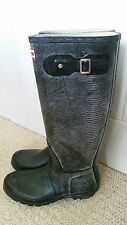 ladies Hunter carnaby lizard black wellies - size 7 - very good condition