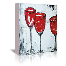 Americanflat 'Vino 33' by Annie Rodrigue Painting Print on Wrapped Canvas