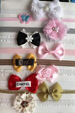 Bundle of 10 Handmade  Baby,Girls Headbands with flower,bows