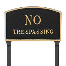 Montague Metal Products Inc. Arch No Trespassing Statement Garden Sign