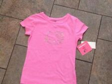 NWT Hello Kitty T Shirt Top Short Sleeved Pink sparkly Blue Yellow 4 6