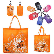 Chic Cute Reusable Eco Foldable Shopping Handbag Shoudler Bag Tote In Pouch Clip
