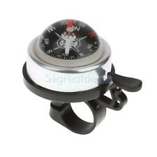 3 Colors Alloy & Plasitc Bicycle Safety Bicycle Bike Ring Alarm Bell Compass