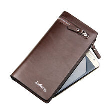 Men's Wallet Long Zipper Leather Clutch Purse Bags ID Credit Card Holder Handbag