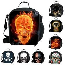 Insulated Bag Box Picnic Camping School Food Drink Lunch Handbag Skull Pattern