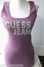 GUESS PURPLE RAIN TANK TOP WITH GUESS LOGO ON THE FRONT NEW WITH TAG LQQK
