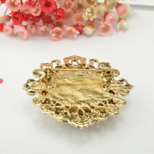 Retro Victorian Crystal Emerald Flower Brooch Pin Lady Party Accessory 3 Colors