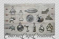 13 pc Scottie Scottish Terrier Dog Inspired Silver Charm Set Lot Collection