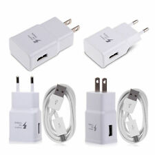 Adaptive Fast Rapid Wall Charger + USB Cable for Samsung Galaxy Note 5 S6 Edge+