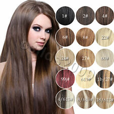 """Womens Cheap Price 22""""~36"""" Remy Human Hair Extensions Clip In Straight Hair 140g"""