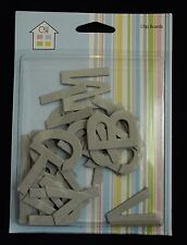 ASSORTED PACKS OF CHIPBOARD LETTERS - MORE OPTIONS