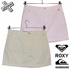 QUIKSILVER ROXY 'SKIPPY' WOMENS MINI SKIRT PINK TAN SURF UK 8 10 12 BNWT RRP £37