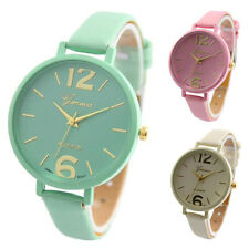 Fashion Geneva Women Analog Casual Faux Leather Quartz Dial Wrist Watches Montre