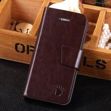 Luxury Leather Magnetic Flip Card Wallet Stand Cover Case Skin For iPhone 5/5S