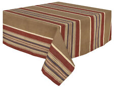 Traders and Company Bunkhouse 100% Cotton Striped Tablecloth