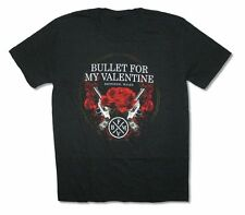 Bullet For My Valentine Roses Pistols Black T Shirt New Official Adult