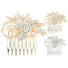 Bridal Pearl Rhinestone Inserted Comb Crystal Hairpin Hair Accessories