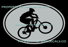 VRS OVAL Cycling Mountain Bike Bicycle Guy Helmet CAR DECAL VINYL STICKER