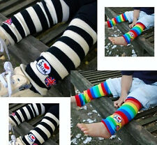 Baby Toddler Boys Girl long Tights Legs Leg Warmers Sock Color stripes Xmas Gift