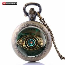 New Gear Eye Quartz Pocket Pendant Necklace Watch Antique Retro Steampunk Gift