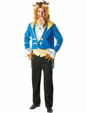 Mens Disney Beauty and the Beast Prince Outfit Fancy Dress Costume