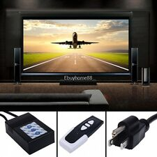 """16:9 Electric Motorized HD 120"""" TV Projector Screen with Remote control EHE8"""